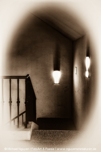 Shadows in the staircase