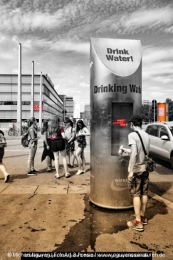 "Wien: Streetlife Photography: Vienna ""Drink Water"""